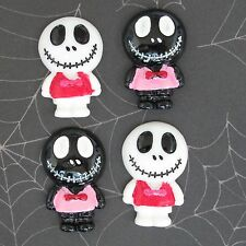 "US SELLER - 10 pcs x 1.25"" Resin Skull Flatback Beads for Jack/Halloween SB614"