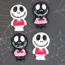 """US SELLER - 10 pcs x 1.25"""" Resin Skull Flatback Beads for Jack/Halloween SB614"""