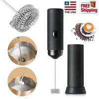 Electric Milk Frother Handheld Coffee Egg Operated Foam Maker Blend Stirrer US