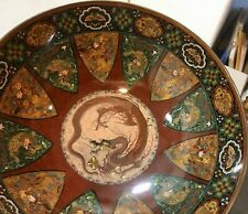 New listing Beautiful antique Japanese Meiji footed bowl dragons flowers birds Deakin Bros