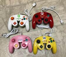 4 Lot Wii U Nintento Game Controller Wired Fight Pad Mario Yoshi Wario Peach