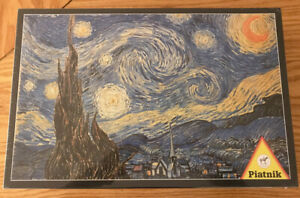 Piatnik Jigsaw Puzzle, van Gogh Starry Night 1000 Piece, Made in Austria, Sealed