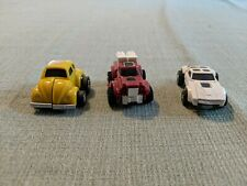 Hasbro Transformers G1 Re Issue Mini Bot 3 Figure Lot Bumblebee Tailgate Swerve