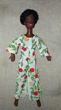Bambola afro Mattel in gomma, originale del 1970
