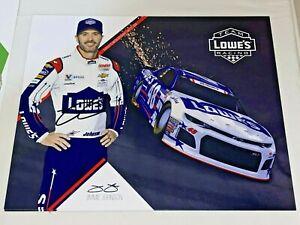 Jimmie Johnson autographed LOWES 8x10 7X CHAMPION HERO CARD photo FUTURE HOFer