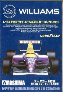 1/64 AOSHIMA F1 F1GP Williams GOODYEAR Miniature Car Collection Random Pick 1pc