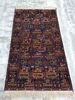6'9x3'8 F00t Handmade Afghan War Art Rug Best Tribal Military War Rug Wool rug