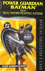 Batman Power Guardian - Legends of, Sealed Kenner Mint Figure Near Card '95