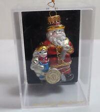 Unique Treasures Glass Ornament - Santa Claus with Child Holding Bear