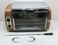 Vintage Mid-Century Chrome NESCO Countertop Toaster Oven Rotisserie Broil Grill