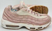 Nike Air Max 95 Premium Suede Trainers 807443-600 Pink/Gum Sole UK7/US9.5/EU41