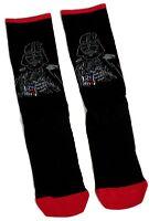 MENS STAR WARS DARTH VADER BLACK RED TRIM SOCKS UK SIZE 6-8.5