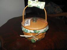 Longaberger St Patricks Day 2001-2 Lucky You Basket Lid Protector Liner Tie-on