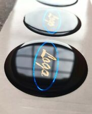 Ford Focus Fiesta Mondeo Kuga Gel Badge Overlay 4 X55mm Wheel centres Any Colour