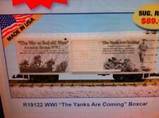 """Usa Trains G Scale R19122 World War 1 """"Yanks Are Coming"""" Boxcar"""