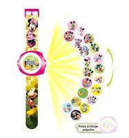 Mickey mouse minnie watch reloj projection proyector kids niños marvel