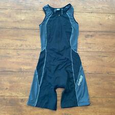Zimco Mens Medium Triathlon Suit Black Grey Trisuit Skinsuit Cycling Swim M