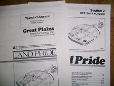 Land Pride Rcr2560 Amp Rcr2572 Rotary Cutter Parts Amp Operator Manuals