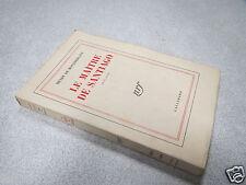 LE MAITRE DE SANTIAGO HENRY DE MONTHERLANT NRF GALLIMARD 1948 *