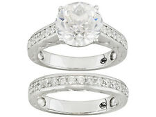 Bella Luce (R) Wedding /Engagement Set Ring W/7.11ctw CZ in 925 Sterling silver