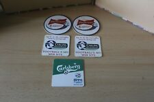 BEER MAT COLLECTION x 5 - EURO 96 - 2002 WORLD CUP JAPAN - CARLING PREMIERSHIP
