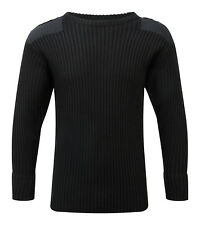 Mens Blue Castle Crew Neck Combat Jumper Black Medium Cs077 OO 05