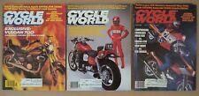 CYCLE WORLD  FULL YEAR 1985. COMPLETE LOT. KAWASAKI.BMW.HONDA.YAMAHA
