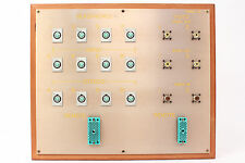 Custom Headphone/Video Patch Bay Panel 12x 4-Pin XLRF / 2x ELCO / 6x SO-239 #10