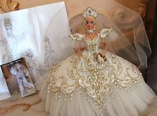 Bob Mackie Empress Bride 1992 Barbie Doll Vintage Wedding Gown Beaded Gorgeous!