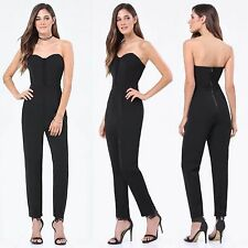 BEBE BLACK LACE UP SWEETHEART JUMPSUIT ROMPER NEW $129 SMALL S