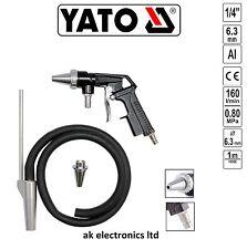 Yato Sandblasting Air Sand Blaster Blasting Gun +1m Hose Kit,Removing Rust,Paint