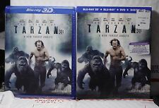 NEW LEGEND OF TARZAN 3D+2D BLU-RAY+DVD+HD ULTRAVIOLET! W-SLIP COVER! SEALED