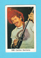 Carlos Santana Vintage 1970s Pop Rock Music Card from Sweden #596