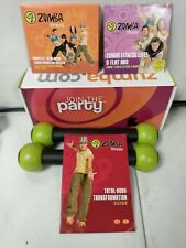 """Zumba Fitness Total Body Transformation System Dvd Set """"Join the Party"""" 4 Dvd's"""