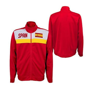 Outerstuff International Soccer Men's Spain Track Jacket, Red