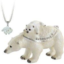 Secret Hidden Treasures - Polar Bear & Baby Trinket Box NEW  28032