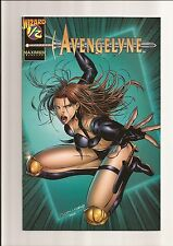 AVENGELYNE #1/2 NM+ 9.6 (WIZARD EXCLUSIVE) ANDY PARK COVER *WHITE PAGES* 1996
