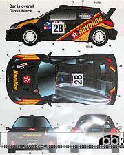 STUDIO 27 PEUGEOT 206 WRC HAVOLINE PORTUGAL 2001 DECAL for TAMIYA 1/24