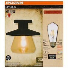 SYLVANIA Lincoln Barn Lantern Light, LED, Flush Mount, Dimmable