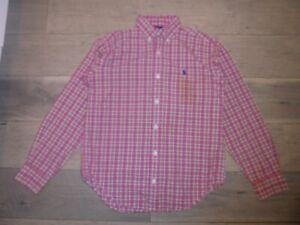 Ralph Lauren red & yellow plaid button front shirt M 12-14