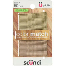 Scunci, No Slip Grip, Color Match Bobby Pins, Blonde, 50 Pieces