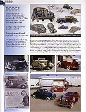 1936 Dodge + Convertible Article - Must See !!