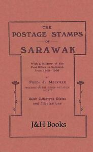 THE POSTAGE STAMPS OF SARAWAK 92 pages 1869-1906 Malaysia Borneo - CD
