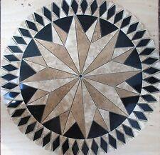 """32"""" Floor Marble Travertine Tile Medallion Design Stone 32"""" #4h"""
