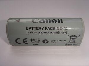 Batterie D'ORIGINE CANON NB-9L GENUINE battery AKKU ACCU Digital IXUS 500 HS