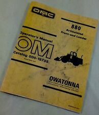 OMC Mustang 880 FRONT-END LOADER OM OPERATORS MANUAL OWATONNA WHEEL SERVICE