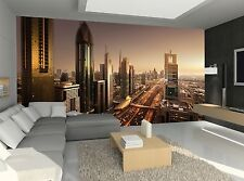 Dubai in Sunset Time Wall Mural Photo Wallpaper GIANT WALL DECOR Paper Poster
