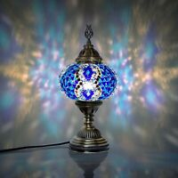 Turkish Moroccan Mosaic Bedside Lamp,mosaic lamp XL Globe Lilac Colour