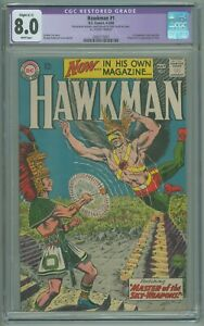 Hawkman # 1 CGC 8.0 VF RESTORED Gardner Fox 1964 Murphy Anderson