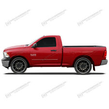 FOR DODGE RAM REG CAB Painted Body Side Mouldings W/Chrome Insert Trim 2009-2015